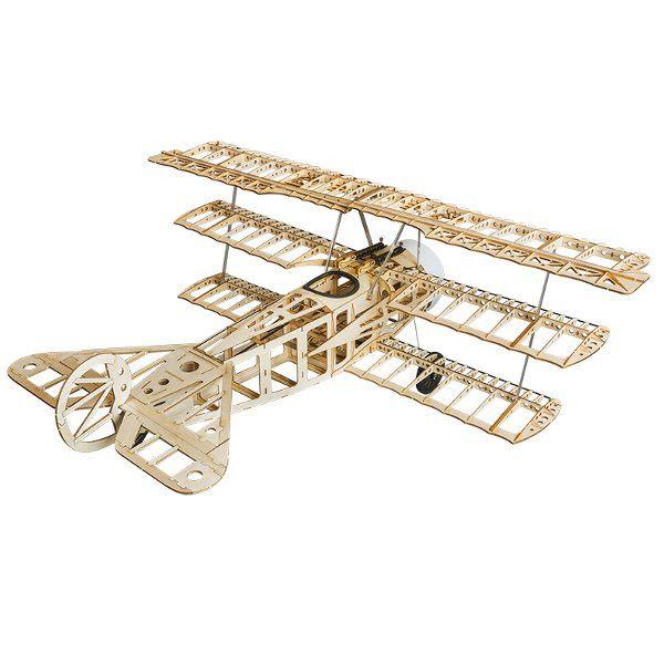 Fokker Dr.I 770mm Envergadura Balsa de madera Triplane Warbird RC Avión KIT