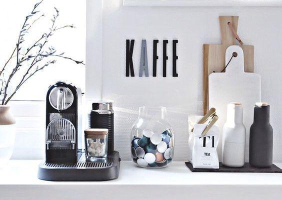Koffiehoekje in de keuken