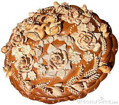 Isolated Ukrainian festive bakery Holiday Bread 8