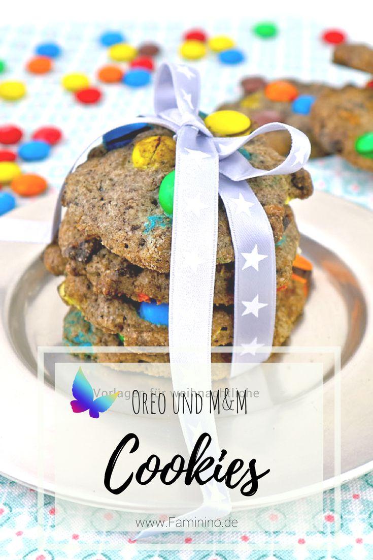 Backmischung im Glas: Cookies mit Smarties (inkl. Etiketten zum Download) #cookies