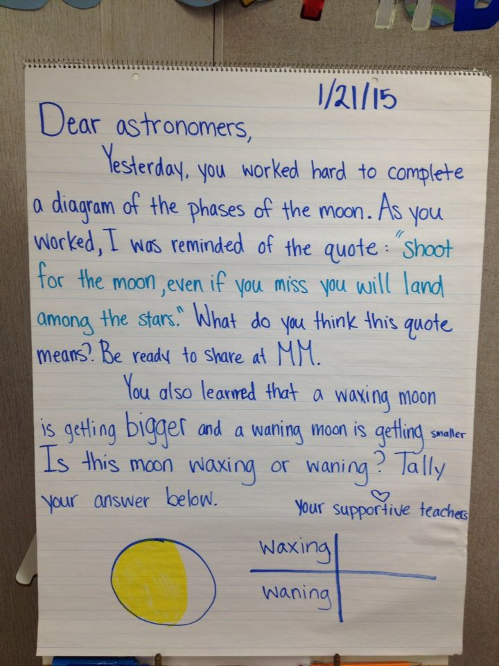 An example of an inspiring and academic Morning Message.