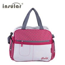 <January's Offer! Click Image to Buy!> hot Stylish dot printing diaper bags Shoulder Messenger multifunctional mummy big stroller bag maternity handbag nappy baby bags * Click the VISIT button for  AliExpress.com #Diapering