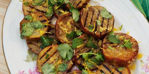 Sweet potato and coriander salad