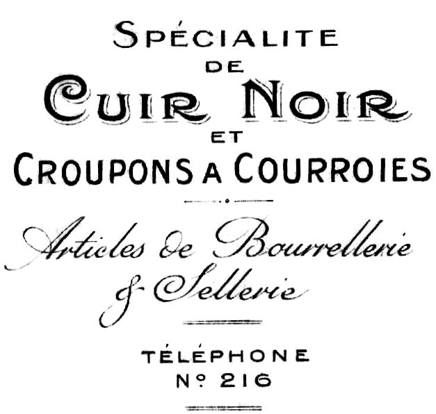 Free Printable Antique French Typography and Invoice Image ~~from Knick of Time http://knickoftime.net