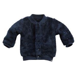 Z8 Vest limestone Navy, Blauw zacht vestje babykleding jongen