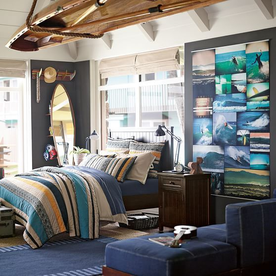 328 best images about boys room on pinterest surf for Surfing bedroom designs