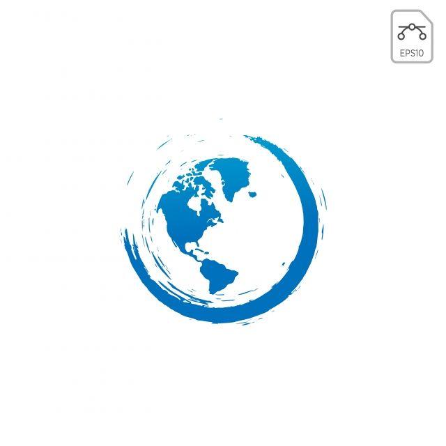 عالم الكرة الأرضية طبيعة الشعار رمز النواقل المعزولة Globe Logo Natural Logo Earth Globe