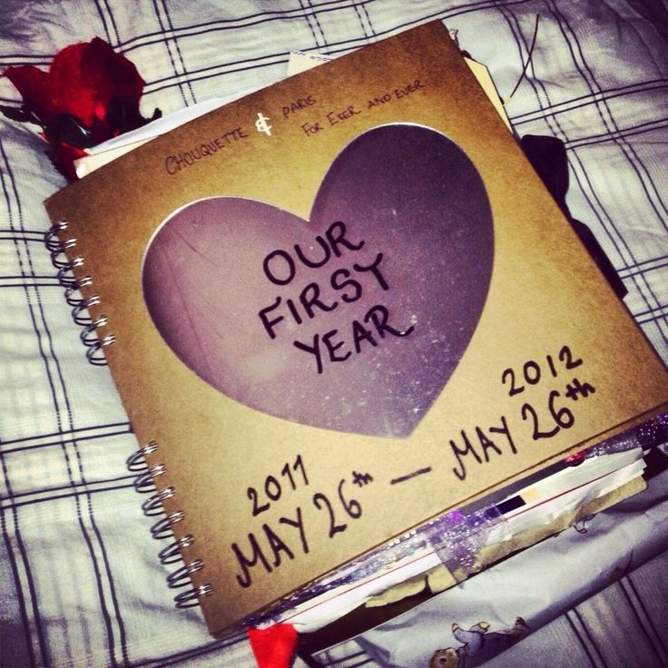 We're both very romantic, so this would be a cute idea for our first year