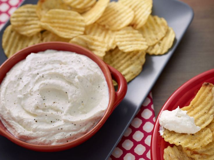 Parmesan Sour Cream Dip recipe from Patrick and Gina Neely via Food Network