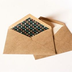 Spice up your envelopes on the cheap with this simple DIY envelope liner tutorial!