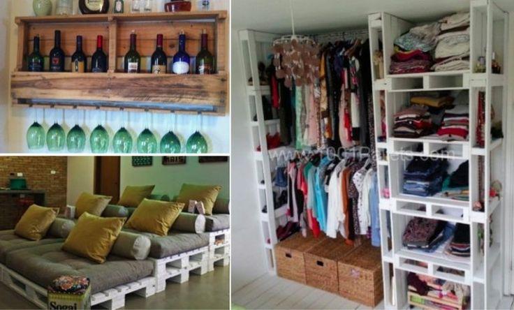 16 manières insolites d'utiliser des palettes en bois chez vous - Des idées