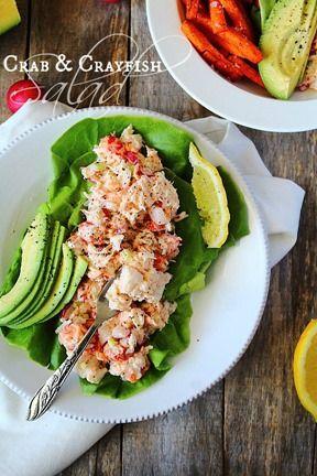 Crab and Crayfish Salad Boats