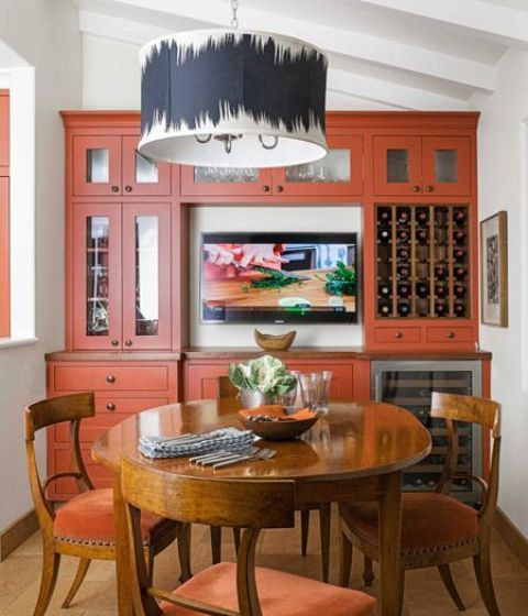 66 Best Images About Orange Kitchens On Pinterest