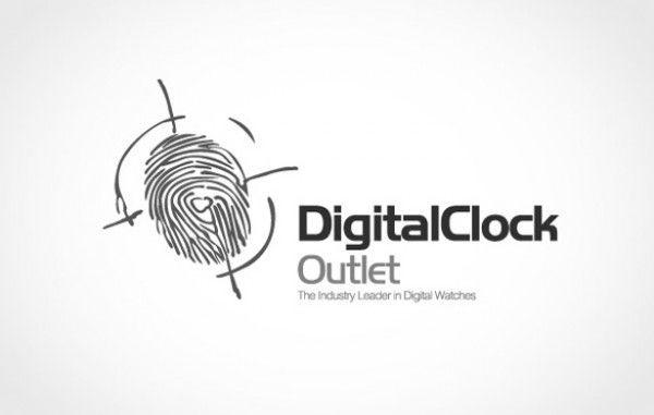 Unique Fingerprint Identity Vector Logo