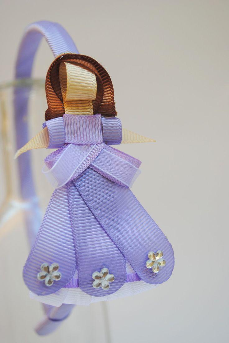 tiara da Princesa Sofia esculturas feitas com fitas de gorgorão à mão.  **ARCO DE TAMANHO ÚNICO - 39CM DE PONTA A PONTA