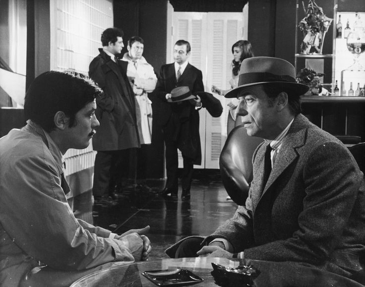 Alain Delon and Yves Montand in Le cercle rouge directed by Jean-Pierre Melville, 1970