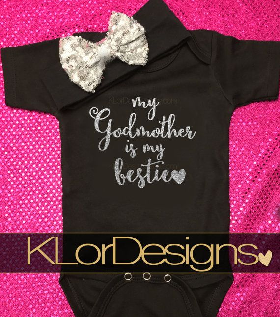 Godmother+onesie++Baby+Girl+onesie++My+Godmother+is+by+KLorDesigns