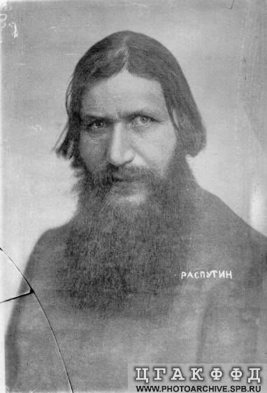 Rasputin .(Russian: Григорий Ефимович Распутин,  1869 –  1916 was a Russian peasant, mystic, faith healer and private adviser to the Romanovs.While his influence and role may have been exaggerated, historians agree that his presence played a significant part in the downfall of the Russian Monarchy. Rasputin was killed as he was seen by left and right to be the root cause of Russia's despair during World War I