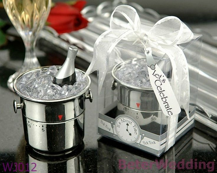 Champagne Bucket Timer Wedding Favors Wedding Decoration_Wedding Souvenir WJ012  Useful Wedding Gifts, Pratical Party Favors at BeterWedding, Shanghai Beter Gifts Co Ltd. http://www.aliexpress.com/store/512567