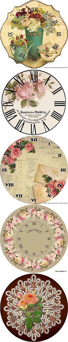 Watches / Decoupage / pictures for decoupage