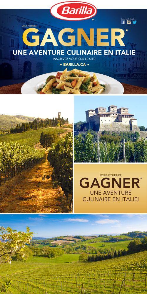 Testez votre QI Barilla pour une chance de GAGNER* une aventure culinaire pour 2 en Italie! #gagnerunvoyageenItalie
