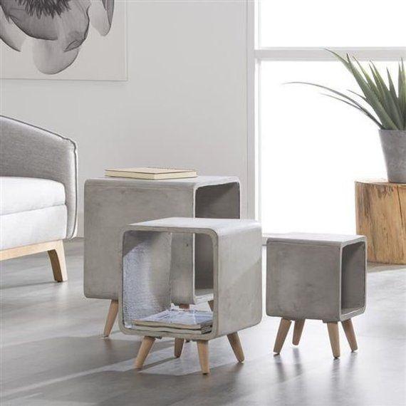 ein satz von 3 saubere und elegante couchtische gemacht. Black Bedroom Furniture Sets. Home Design Ideas