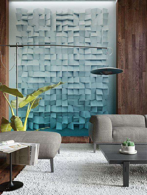 Cubical   Designer Murals   Accent Wallpaper for office design  #mural #wallpapermural #designerwallpaper #office #3dwallpaper