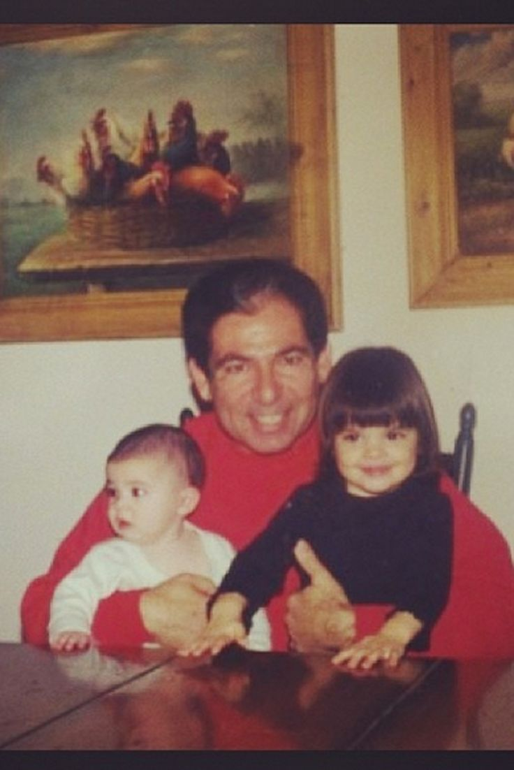 Robert Kardashian with Kylie and Kendall, as shared by Khloé. - Cosmopolitan.com