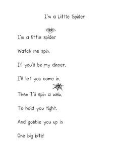 iu0027m a busy spider poem