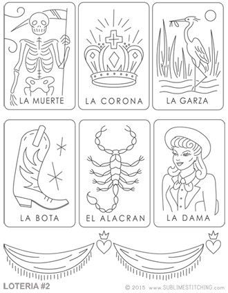Embroidery Patterns <br> LOTERIA 2