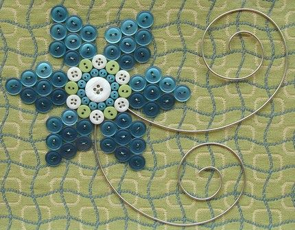 Jillian of JillianReneDecor creates one-of-a-kind framed artwork. These buttons are not sewn with thread, but each piece is hand woven using thin gauge wire. The intricate wire structure creates dimension & depth, giving it a sculptural appearance.