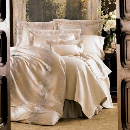 Anichini Marte Renaissance Jacquard Sheets in Neutral // Egyptian Cotton Sheets