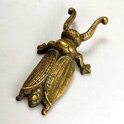 Gorgeous original vintage brass cast beetle boot jack