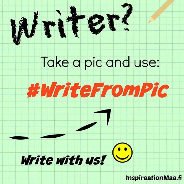 Writer? Take a pic and use: #writefrompic Write with us! :) Instagram  #amwriting #write #writer #author #authors #inspire