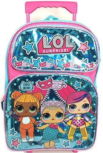 10c83485a002 New L.O.L. Surprise! L.O.L Surprise! Large School Backpack 16 Rolling  Backpack Book Bag Blue LOL bag New lol online.   44.95  likeprodress