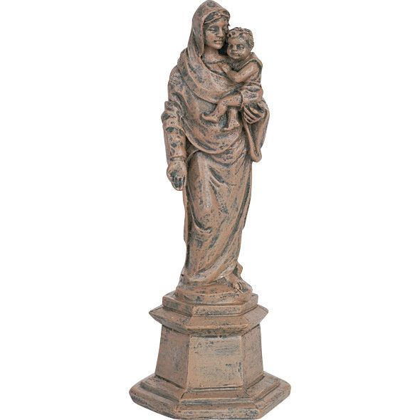 Miniature - Madonna And Child Statue
