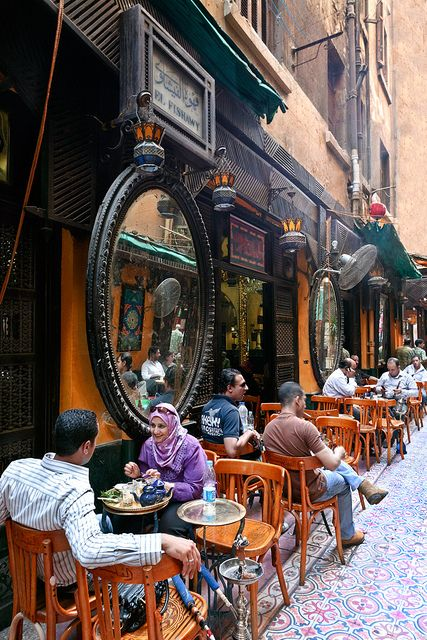 El Fishawy coffee shop, Cairo, Egypt. We had cold drinks here while waiting to be picked up by our tour guide.