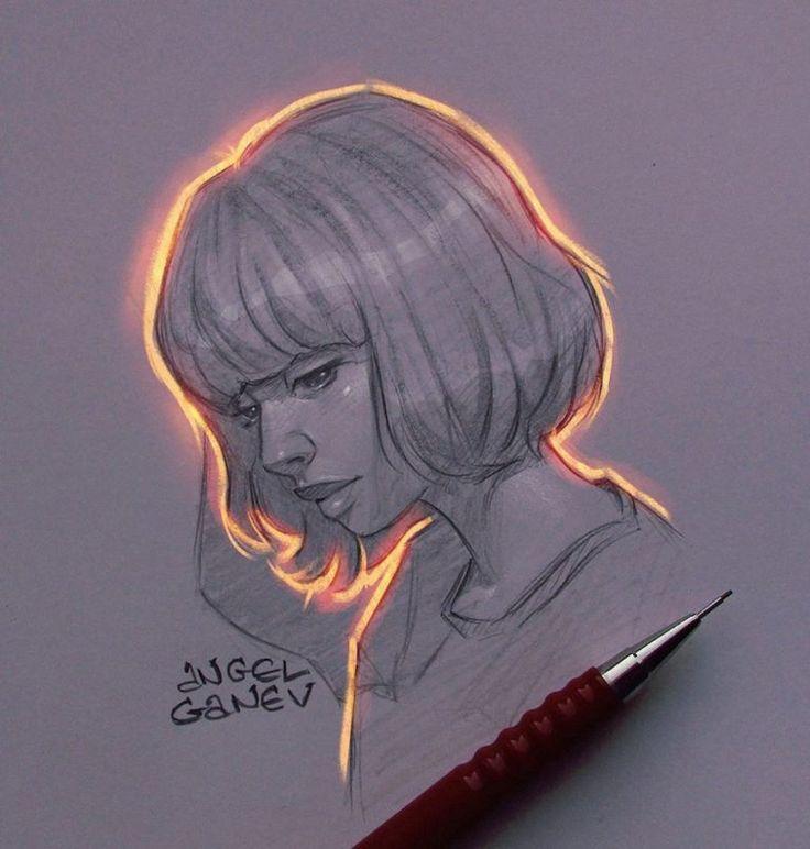Dieser Illustrator erzeugt auf seinen Zeichnungen außergewöhnliche Lichteffekte