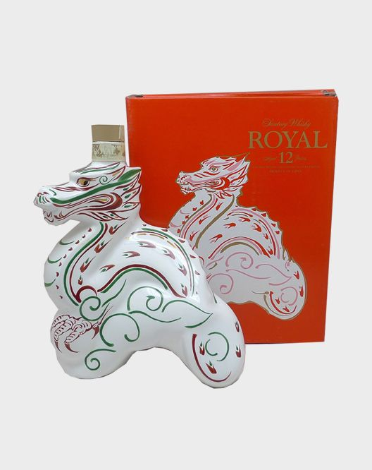 """Royal 12 Years-Year of the Dragon.   Suntory is one of the largest makers of alcoholic beverages in the world; its products include such favorites as the Yamazaki and Hibiki. It also has a wonderful collection of zodiac bottles, which take the shape of each animal in the Chinese zodiac calendar. This 12 year old bottle celebrates the Year of the Dragon. I've never heard of their """"Royal"""" Whisky, so I have no idea if it's worth the $350 price tag, or if it's just the novelty of the decanter."""