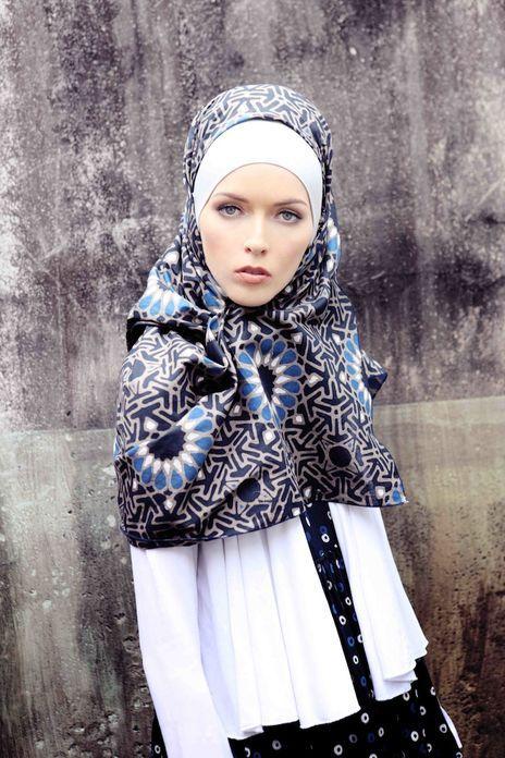 Indigo Batik Scarf