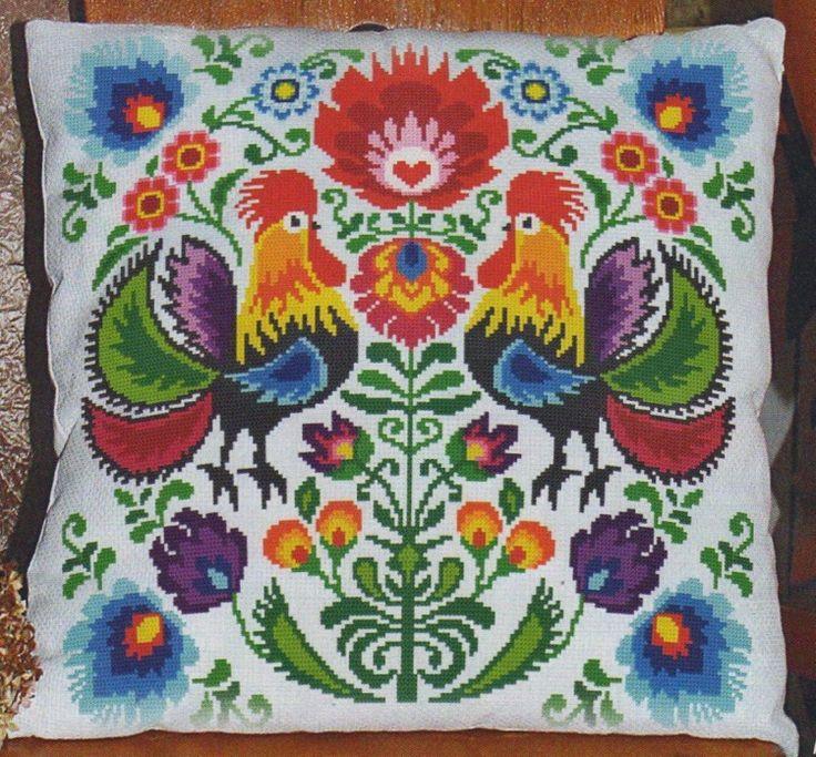 схема вышивки подушка / Вышивка / Схемы вышивки крестом