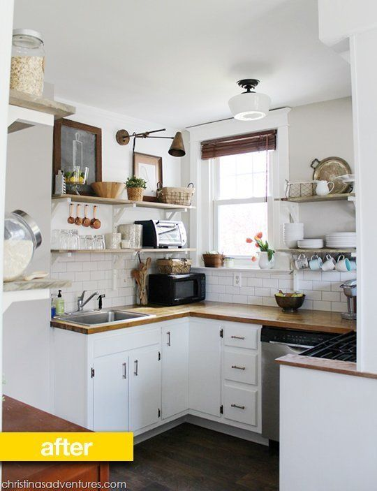 Kitchen Before & After: A Brown, Cramped Kitchen Opens Up For Under $3,500 — Kitchen Remodel | The Kitchn