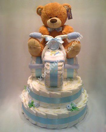 Tricycle Diaper Cake Base - 9990300 - Baby Boy - Diaper Cakes - by Babyfavorsandgifts