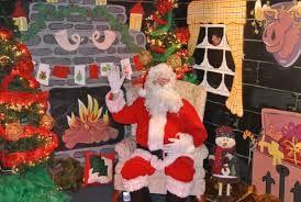 Image result for nativity scene santa grotto