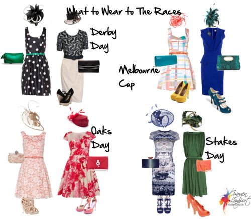 Spring Racing Carnival Dress Codes    I don't know how I got on the subscriber list to this fashion blog from Australia, but I loved the chance this morning to learn about what to wear to the spring sailing races -- I think they're sailing races, anyway. (Update: Nope. Horse races.) Anyway, here in America we need more hat-friendly events!