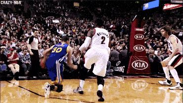 Steph Curry crossover behind the back 3pter.   **SICK GIF**