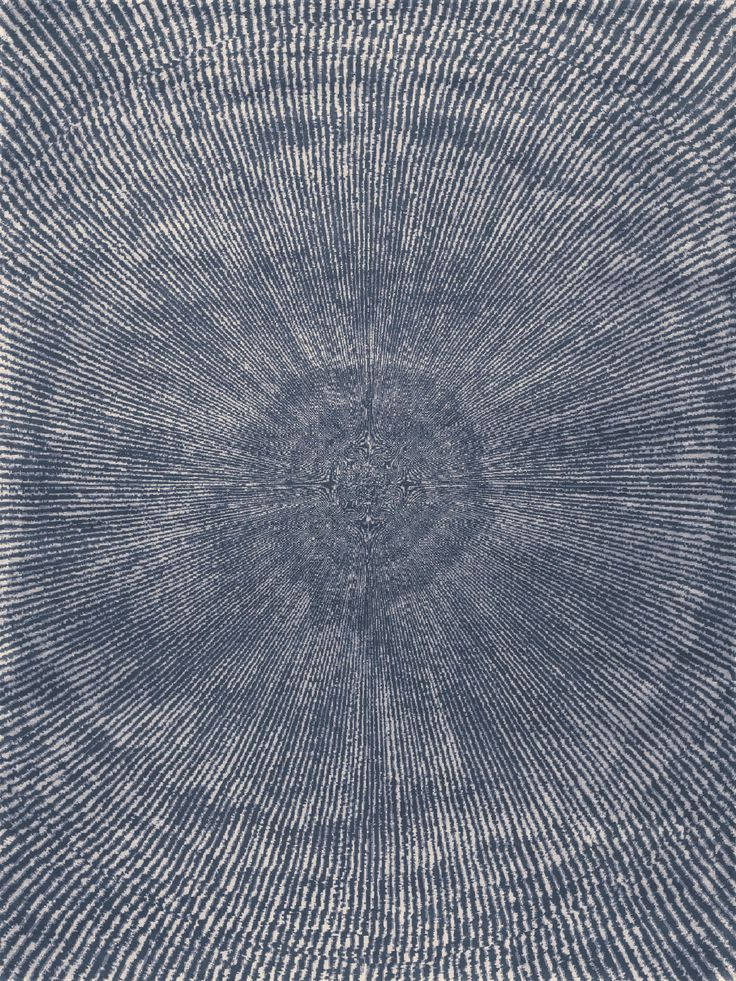Fort Street Studio S Cross Section Hand Knotted Wild Silk Rug Shown In Blue