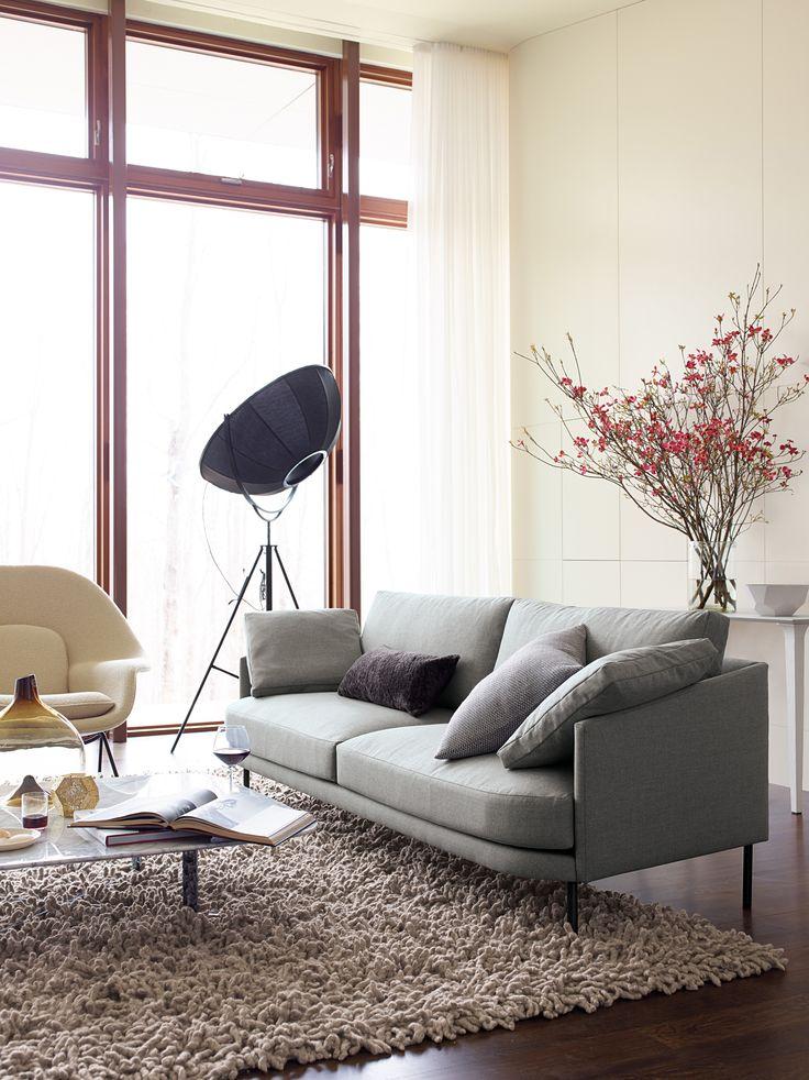 Sofa Sale Camber Sofa in Fabric Onyx Legs Design Within Reach
