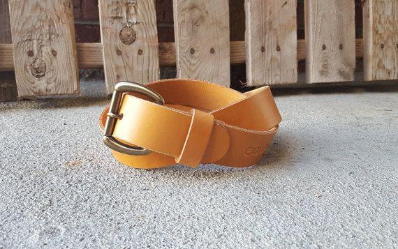 Men's Leather Belt  Hermann Oak  Veg Tan Leather