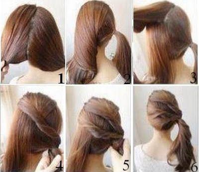 coiffure cheveux long simple et rapide - Recherche Google